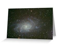 M33 triangulum galaxy Greeting Card