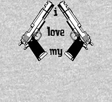 I love my GUNS Womens Fitted T-Shirt