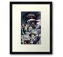 Catania Fish Market Framed Print