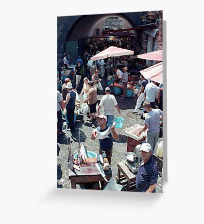 Catania Fish Market Greeting Card