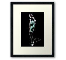 High Fashion Girl Fine Art Print Framed Print