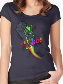Let's Go! Women's Fitted Scoop T-Shirt