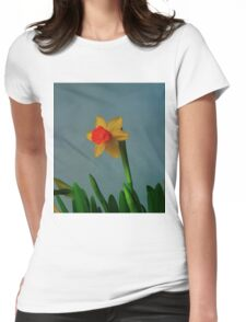 Daffodil Yellow Womens Fitted T-Shirt