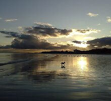 December Sunset Bridlington by Merice Ewart Marshall - LFA