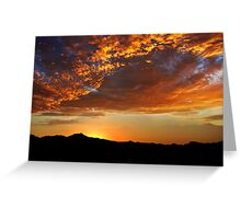 Tucson Sunset Greeting Card