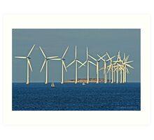 Windmills outside Copenhagen Art Print