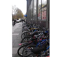 bicycles in the street Photographic Print