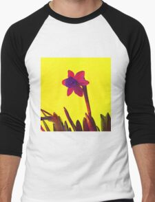 Daffodil Pink with Orange Men's Baseball ¾ T-Shirt