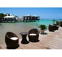 Infinity Luxury Swimming Pool in the Cayman Islands Photographic Print