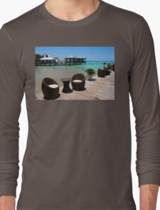 Infinity Luxury Swimming Pool in the Cayman Islands Long Sleeve T-Shirt