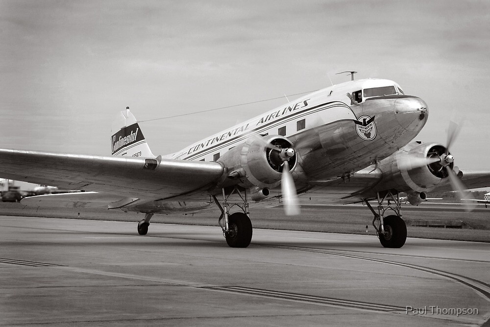 Continental Airlines DC-3 by Paul Thompson
