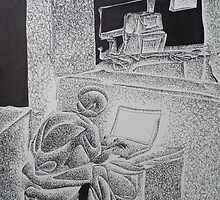 romance. 11''x14''. pen on paper. by adam sturch