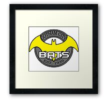 Gotham Bats - White Background Framed Print