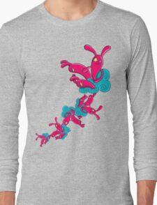 Many Rabbit on the Cloud Long Sleeve T-Shirt