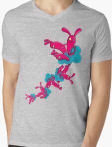 Many Rabbit on the Cloud Mens V-Neck T-Shirt