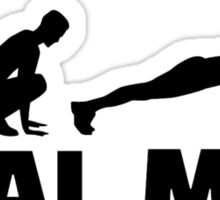 Real men do burpees Sticker