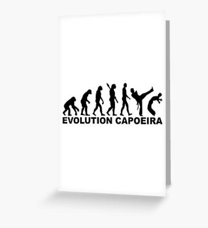 Evolution Capoeira Greeting Card