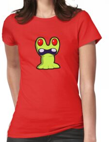 Cute Little Green Monster Womens Fitted T-Shirt