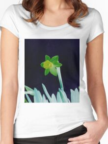 Daffodil Green Women's Fitted Scoop T-Shirt