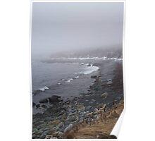 Winter fog, Ragged Beach Poster