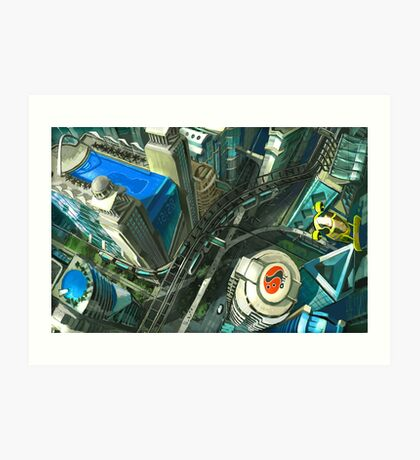 Ariel View - Utopian Concept Art Print