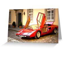 Lamborghini Countach LP400 Greeting Card