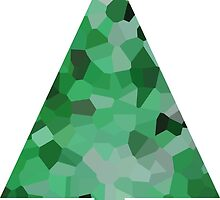 Jade Crystal Christmas Tree  by jojobob