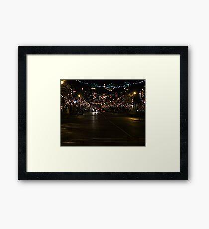 Ladysmith Lights Up! Framed Print