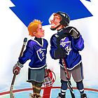 Hockey Face-off by David Sourwine