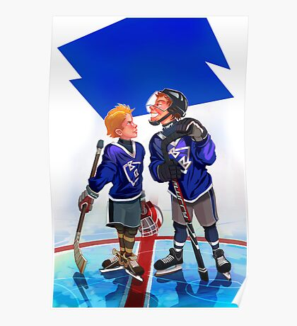 Hockey Face-off Poster