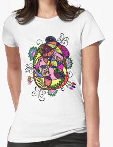 Doodle Fun Womens Fitted T-Shirt