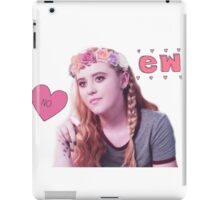 Claire Novak + Flower Crown iPad Case/Skin