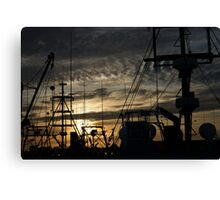 Against the sunset Canvas Print