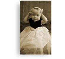Take it off MOMMY! Canvas Print