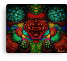 Focused Crackled Heart Canvas Print