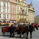 The Old Town Square in Prague  by jules572