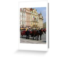 The Old Town Square in Prague  Greeting Card