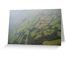 East Devon From the Air Greeting Card