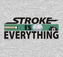 Stroke is Everything 8 Ball Black Kids Clothes