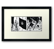 """VIKINGS """"the battle"""" Framed Print"""