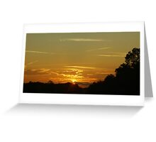 Sundown And Contrails Greeting Card