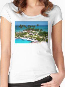 The Bacardi Island in Samana Bay, Cayo Levantado  Women's Fitted Scoop T-Shirt