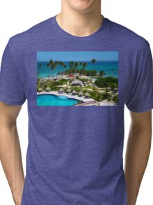 The Bacardi Island in Samana Bay, Cayo Levantado  Tri-blend T-Shirt