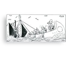 """VIKINGS """"the funeral"""" Canvas Print"""