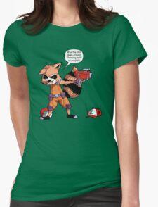 Rocket Raccoon...Usaur? Womens Fitted T-Shirt