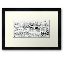 "VIKINGS ""walk on the water"" Framed Print"