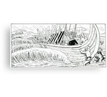 "VIKINGS ""walk on the water"" Canvas Print"