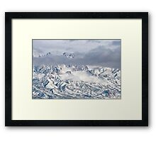 Snowstorm In The Organ Mountains Framed Print