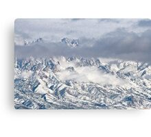 Snowstorm In The Organ Mountains Canvas Print