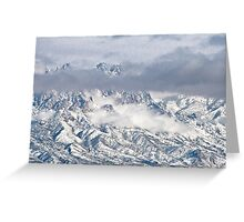 Snowstorm In The Organ Mountains Greeting Card